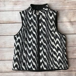 Black and White Reversible Quilted Puffer Vest NWT